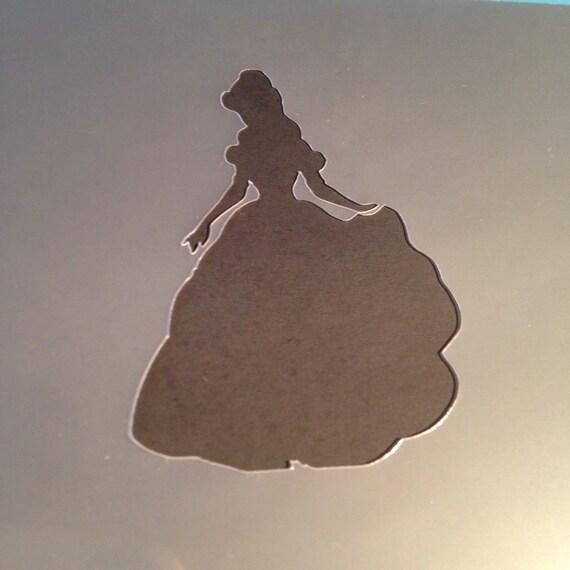 disney princess stencil belle craft silhouette girls bedroom nursery