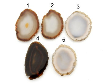 Agate Slices - Colorful Brown and Gray Agate Slice - You Choose (RK1B1-59)