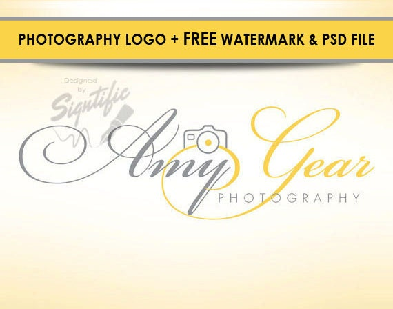 Photography logo design, free watermark and PSD source file, photographer logo, photograph watermark, custom camera logo design