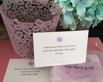 Releasing Grief Affirmation Cards