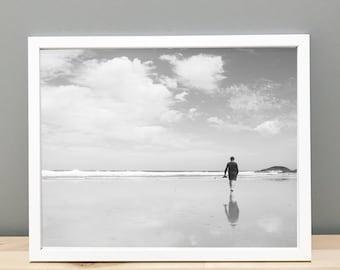 Black and White Beach - Printable Art
