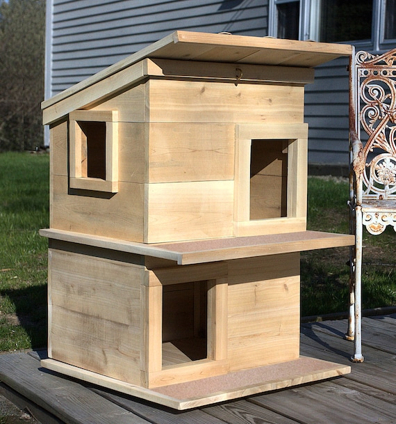 Cat House Outdoor Cat Shelter Condo For Your Rescue Cat Comfy