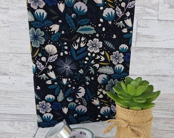 A5 Journal cover - a5 fabric book cover - Fabric Covered Notebook - Notebook Cover - art journal cover - Lydia Design - Happy planner