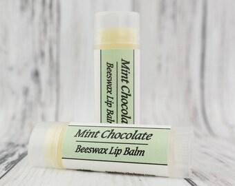 Organic Mint Chocolate • Natural Beeswax • Lip Balm