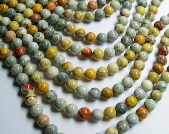 Sky eye Jasper - 8 mm round beads -1 full strand - 49 beads - A quality - RFG372