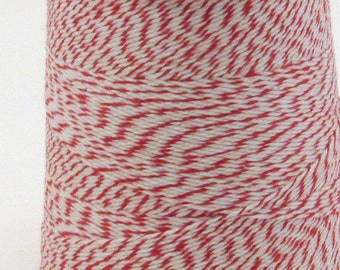 Red and White Bakers Twine Classic Red and White 4 Ply Twine Peppermint Twine Colorful Twine