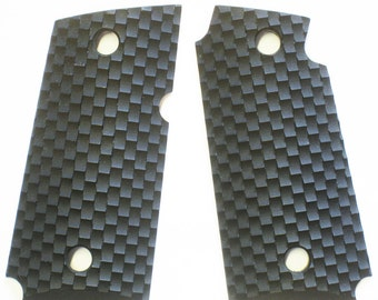 "Duragrips - Kimber Micro Carry 9 mm Tactical Grips - "" Links "" Black"