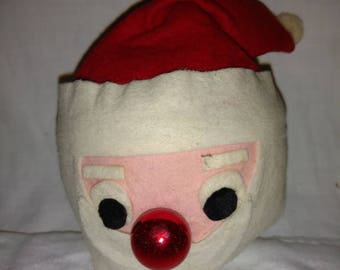 Vintage Santa Head 1960's Styrofoam Decoration