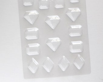 Jewel Chocolate Mold, Jewel Candy Mold, Princess Party Favors, Jewel Plastic Candy Mold