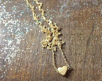 BELOVED  - tiny gold heart as a reminder to enjoy the little things - Beautiful  (and) Simple Gift - Handmade By Simag