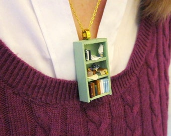 Pride and Prejudice (Jane Austen) Bookshelf Necklace by Coryographies (Made to Order)