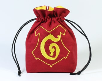 Lion Wizard House Dice Bag, Drawstring Bag