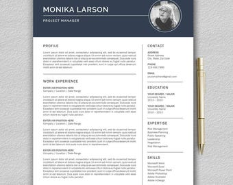 Resume Template / CV Template For Word + Cover Letter | Modern Resume  Template | Professional