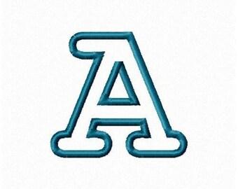 Instant Download Embroidery Machine Alphabet  Applique Design-736