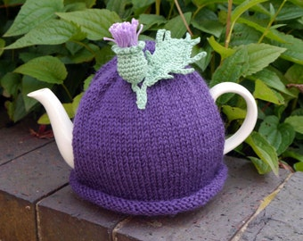 Scottish Gift Thistle Flower Tea Cosy, Teapot cozy