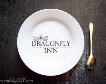 Dragonfly Inn - Stars Hollow - Gilmore Girls - Gilmore Girls Gift - Inspired - Hand Crafted Plate