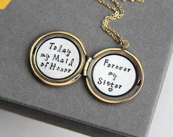 Today My Maid of Honor Forever my Sister, Maid of Honor Proposal gift, Bridesmaid Gift, Will You Be My Maid of Honor, Matron of Honor Gift