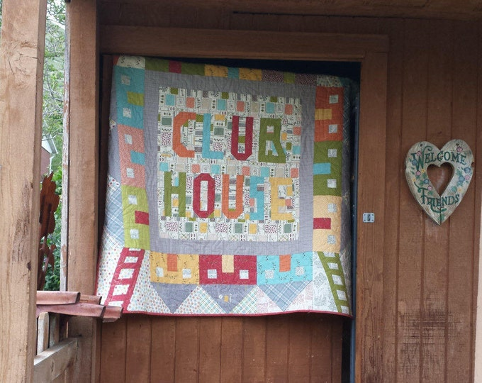 Club House a mix of patchwork and paper piecing quilt pattern