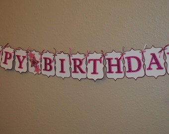 "Birthday Girl ""Happy Birthday"" Banner"