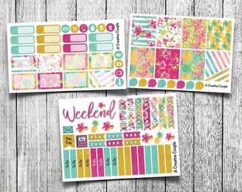 Tropical Summer Weekly Kit Planner Stickers