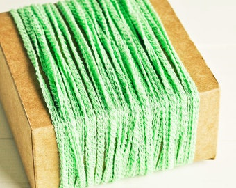 Braided Twine in Mint Green - 6 Yards - Pastel Baby Pink Cord Delicate Garland Pretty Packaging Gift Wrapping Wedding Party Decor