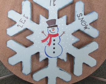 Frosty the snowman snowflake, Let it now Holiday Decor, Christmas Decor