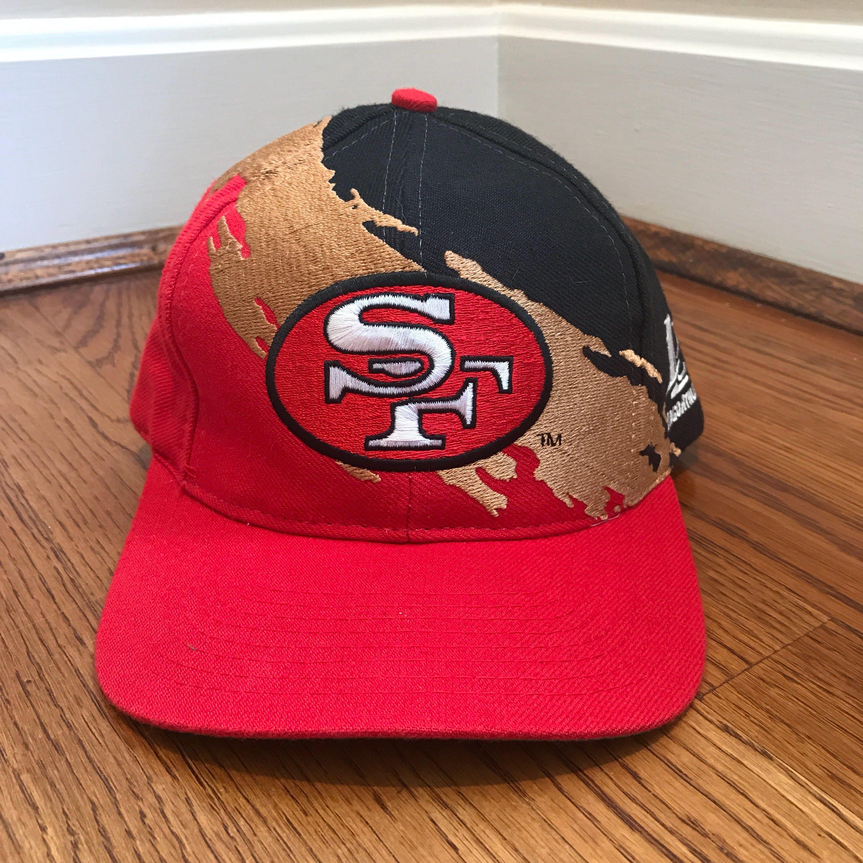 Vintage San Francisco 49ers Snapback Hat Adjustable Paint b5bf8096c