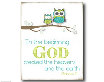 In the beginning | Genesis 1:1 - Christian Art Print