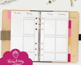 "Planner inserts personal: ""BOX PLANNER WEEKLY"" Printable planner inserts 