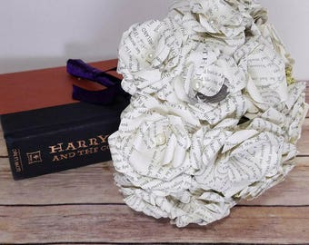 Literary Paper Rose Bouquet