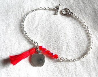 Bracelet beads and Red tassel