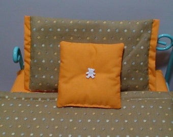 18 inch doll bedding, Doll bedset, doll sheets, 18 inch doll bedsheets, Doll bedding for AmG, 4 pcs doll bedding, 4 pcs doll sheet set