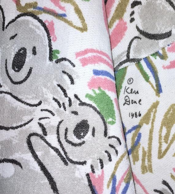 Print Fauna Koala Sweatshirt Art Jumper Ken Rare Sweater 1986 Design Vintage Baby Koala Full Done Pop Done 80's Baer Ken Flora Pullover I8POI