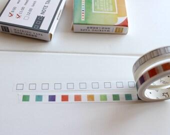 Checklist Washi Tape, Checklist Stickers, Planner Tape, Planner Stickers, Tick List, Skinny Thin Planner Tape (PT-120, PT-121-CD)