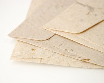 """A7 (5x7 Inch) Mulberry Paper Envelopes - Natural colour (Set of 10 or 20) - The actual size is 5""""x7 1/4"""""""