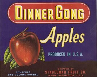 10 Old Vintage APPLES / Pears CRATE LABELS  Washington ,Minn.,etc...