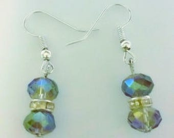 Gorgeous Crystal Drop Fishook Earrings