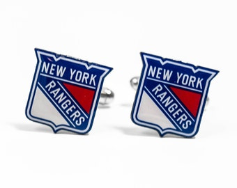 New York Rangers Cuff Links -- FREE SHIPPING with USPS First Class Domestic Mail