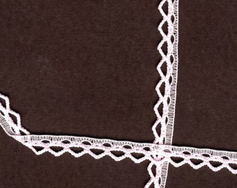 1/4 inch wide Baby Pink lace trim  35 yds  (D594)