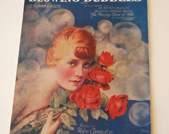 Vintage Sheet Music, I'm Forever Blowing Bubbles