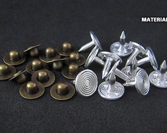 12sets   8mm - Anti-Brass - ECR-N8 Jeans Nipple Rivet