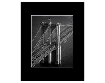 Brooklyn / Brooklyn Bridge / Brooklyn Art - New York Print / New York Art Print - New York City Art / Black and White Photography