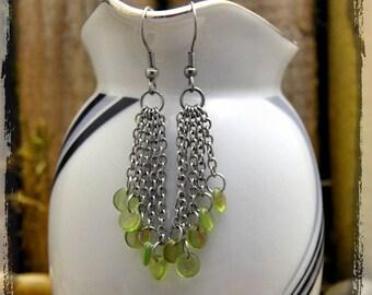 Kevään vihreät korvakorut *Stainless steel*