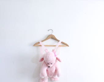 Pink Poodle Furry Mini Backpack