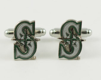 Seattle Mariners Cuff Links -- FREE SHIPPING with USPS First Class Domestic Mail