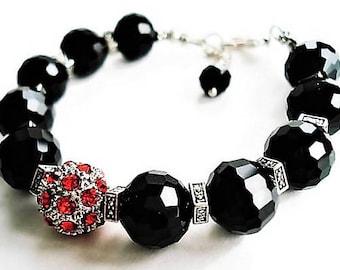 Onyx Bracelet Gemstone Jewelry Black Bracelet Bohemian Jewelry Statement Bracelet Black Jewelry Everyday Bracelet Gift Idea Silver Bracelet