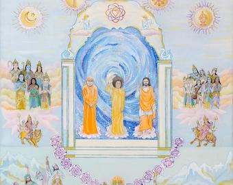 Lord of the Universe Sathya Sai Baba Giclee prints