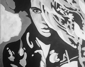 The Woman. Large Wall Art, Large Portrait art black and white woman