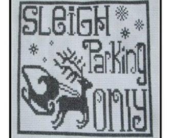 Christmas Sleigh Parking Cross Stitch PDF E pattern emailed Pattern Sampler Design 170
