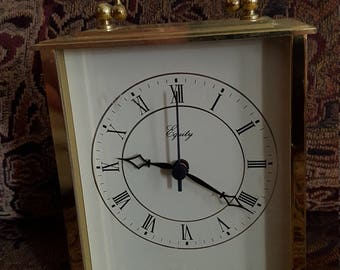 Equity Brass Carriage clock with Glass face and optional chime!